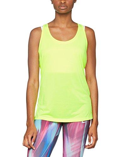 NIKE W NK Dry Damen ärmellos Tank Balance Top, Gelb, XS (Nike Bekleidung Für Frauen Fitness-studio)