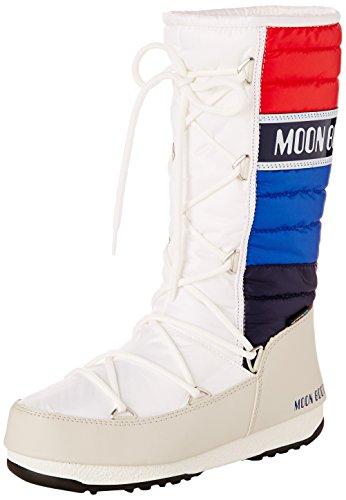 Moon Boot W.E. Quilted Scarpe sportive outdoor, Donna, Multicolore (Bianco/Blu/Rosso), 36