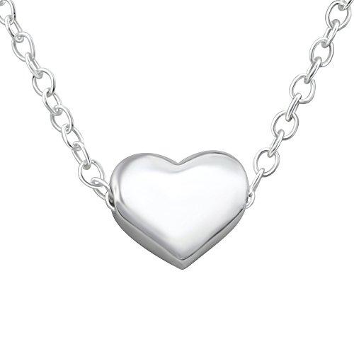 Laimons Damen-Halskette kleines zartes Herz mit Kette 45cm glanz Sterling Silber 925