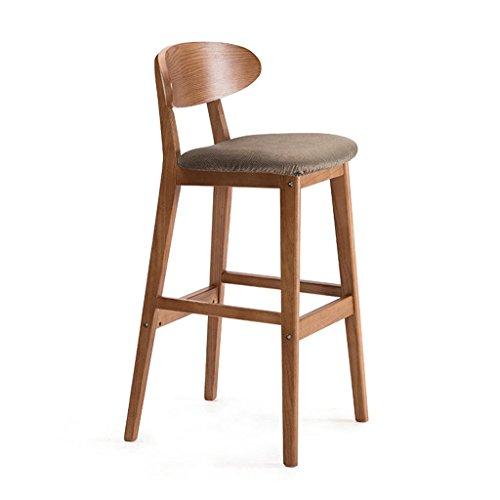 Massivholz Theke Höhe Tisch (ChunSe Stuhl Hocker, PU-Sitz Vintage Holzhocker, Küchenhocker Theke Bar Tisch Frühstücksbar, Massivholz Unterstützung, Höhe von 75 cm, N)