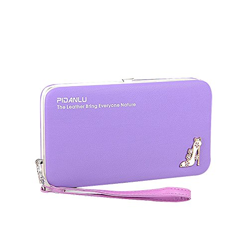 Ulisc Fashion Wallets Women Long Design Cute High Heels Large Capacity Lunch Box Ladies Wallet Purse Clutch (Heels Cute)