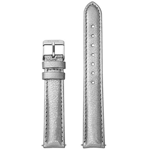 CLUSE-Uhrband-Wechselarmband-LB-CLS358-Ersatzband-CLS358-Uhrenarmband-Leder-16-mm-silber