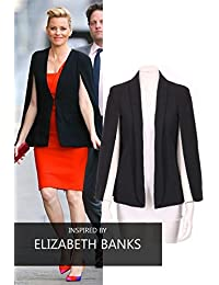 Cape Blazer With Collar Open Front And Long Sleeves