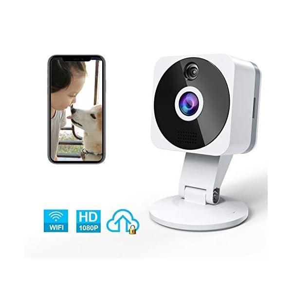 Telecamera-Wi-fi-Interno-1080P-NIYPS-Full-HD-senza-fili-Videocamera-Sorveglianza-con-Visione-Notturna-Audio-Bidirezionale-e-Sensore-di-Movimento-Telecamera-IP-Cloud-per-Baby-Monitor