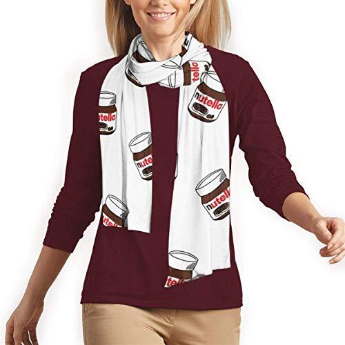 Sciarpa da donna alla moda, invernale, calda, calda, elegante, lunga, in cotone Nutella