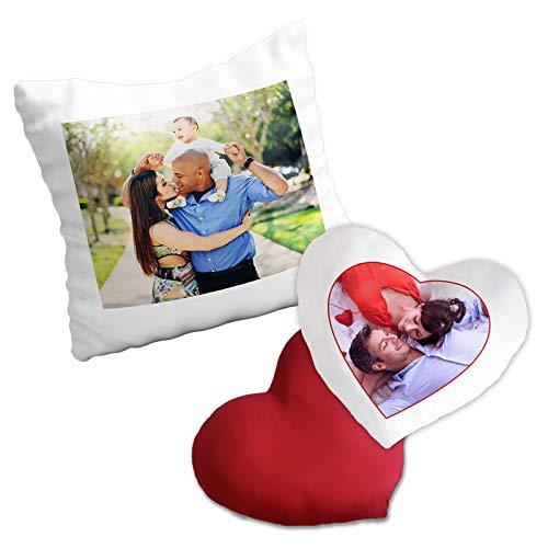PixiPrints.com Personalisiertes Fotokissen mit Bild und Text * selbst gestalten mit eigenem Foto * hochwertig Bedruckt