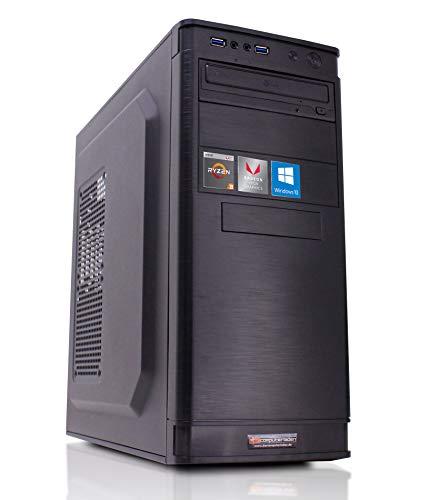 Office PC, AMD Ryzen 3-2200G 4x3.5 GHz, 8GB DDR4, 1TB HDD, AMD Vega 8 2GB, Windows 10 Büro Computer zusammengestellt in Deutschland Desktop Rechner