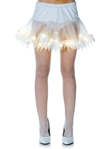 Underwraps White Light Up Petticoat Tutu Skirt One - Tutu Lightup Kostüm