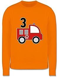 Kinder Kontrast Hoodie Feuerwehr Kind Shirtracer Feuerwehr Helm Flammen