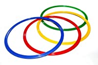 agility sport pour chiens - lot de 4 cerceaux Ø 50 cm, 4 coloris - 4x R50ybrg