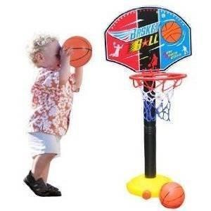 Ajustez les enfants Enfants de basket-ball Hoop Panneau Set and Ball 115cm