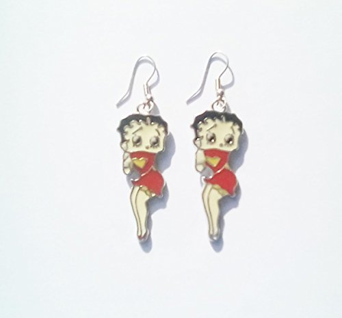 betty-boop-red-dress-enamel-charm-earrings-free-of-lead-nickel-and-cadium-on-silver-plated-hooks-62m