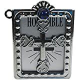Salvus App SOLUTIONS Christmas Special Silver Holy Bible With Cross Sculpture Of Jesus Christ Christian / God Jesus Cross Sign Car Dashboard Idol Lord Christ / Catholic Cross Decorative Spritual Puja Vastu Showpiece Figurine