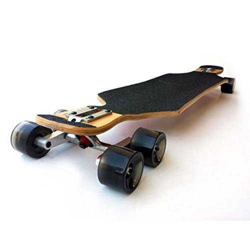 Schwarzes Tandem-Achsen-Rad-Set für Skateboard für Cruiser, Longboard, Penny-Truck