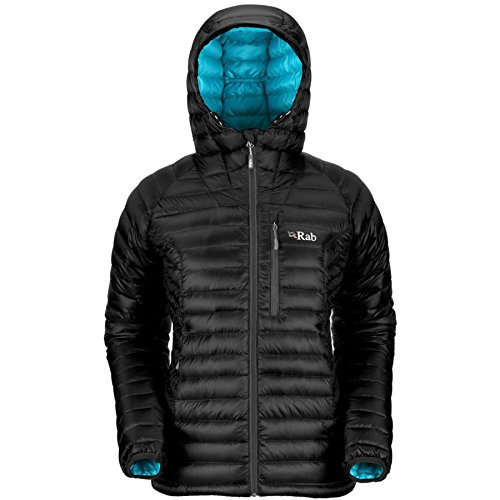 RAB Microlight Alpine Jacket Womens, Black,X L (Microlight Alpine Jacke)