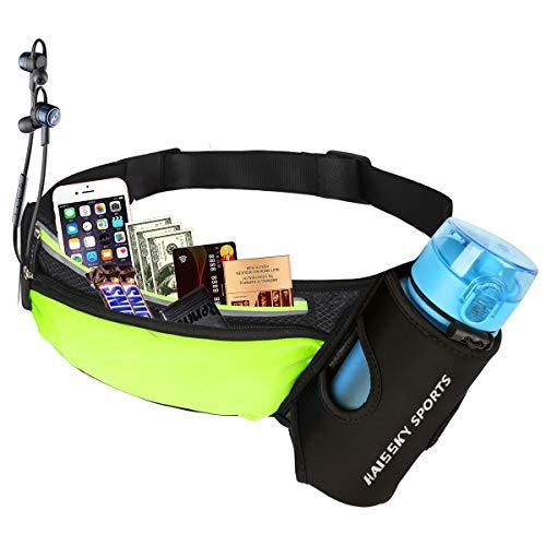 Guzack Gürteltasche Hüfttasche Bauchtasche Laufgürtel für Trinkflasche, Sports Trinkgürtel Pockets Waistpacks Outdoors für Telefon bis zu 6,5 Zoll, für Ausgeführt Radfahren Wandern Walking -