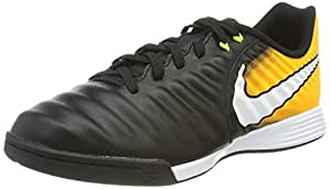 Nike Jr. Tiempox Ligera Iv Ic, Unisex Kids' Footbal Shoes, Black (Black/white-laser Orange-volt), 2 UK (34 EU)