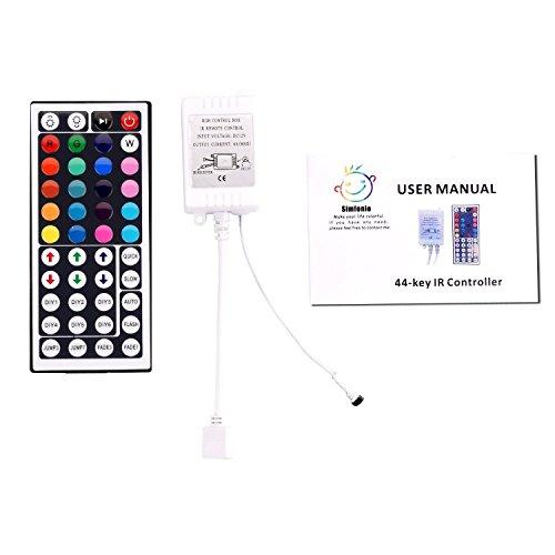 Simfonio®Mando a distancia IR 44key multiples funciones Para RGB LED tira luces LED 5050/3528
