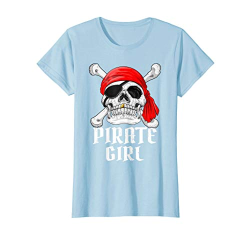 Pirat Kid's Pink Kostüm - Pirate Girl Piraten Kostüm Mädchen Fastnacht Fasching T-Shirt