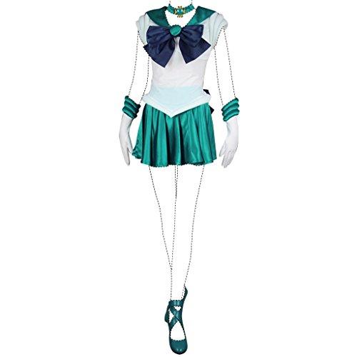 Neptun Sailor Moon Kostüm - Sailor Moon Cosplay Costume Sailor Neptun Michiru Kaioh Costume Set XXX-Large