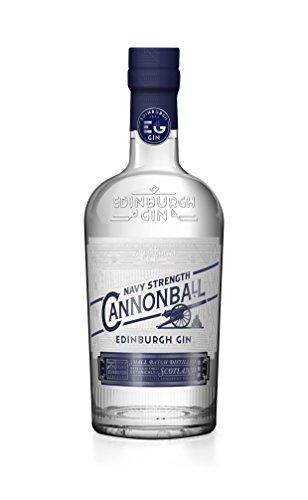 Edinburgh Gin Cannonball (1 x 0.7 l) - Gin in Navy Stärke - besonders geeignet für Genießer von starken Gin Tonics