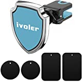 iVoler Soporte Magnético Móvil Coche, Soporte de Movíles para Rejilla de Ventilación de Coche Grip Magic Car Mount Universal para iPhone 7/6 Plus/6s/6/5 Samsung Galaxy S7/S6 Edge, Huawei P9/P8 lite,MP3 Player y Android Smartphone GPS - Azul & Negro