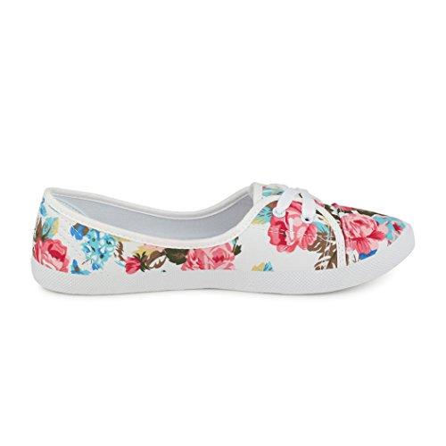 best-boots Ballerine Sneakers Sneaker scarpe da ginnastica Textil Weiß/Bunt
