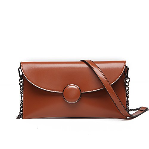Meoaeo Coreano Moda Stile Retrò Crossbody Bag Brown brown
