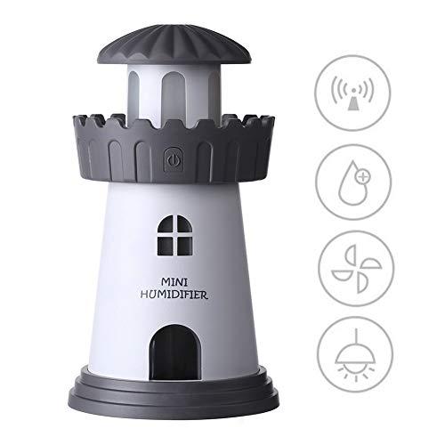 DQMJ LED Nachtlicht, Home Desktop Touch Control aufladbare Smart Nachttischlampe, USB Ultraschallzerstäuber, Ändern der Modi für Kid Baby Schlafzimmer (Farbe : ()