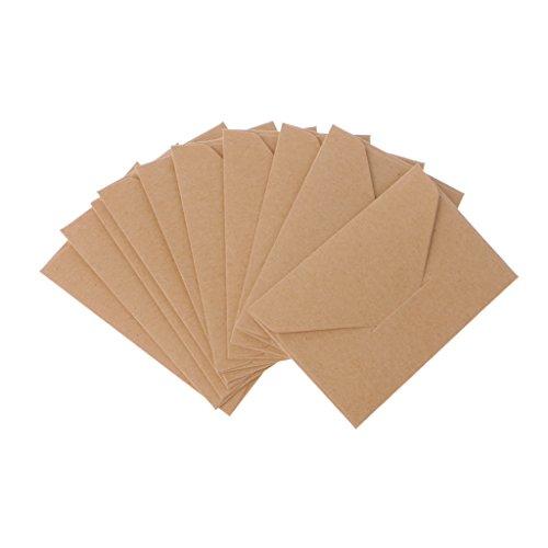 Briefumschläge aus Kraftpapier, Vintage-Stil, europäischer Stil, 50 Stück braun -