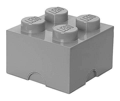 Room Copenhagen 40031740 Lego Brique Rangement Empilable Plastique Gris Pâle 4 Plots 25 x 25 x 18 cm