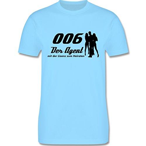 JGA Junggesellenabschied - 006 der Agent - Herren Premium T-Shirt Hellblau