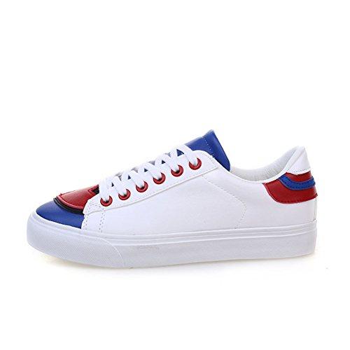 Love little shoes blancs/Les étudiantes avec une version coréenne de chaussures Velcro/Chaussures de sport/Chaussures femme D