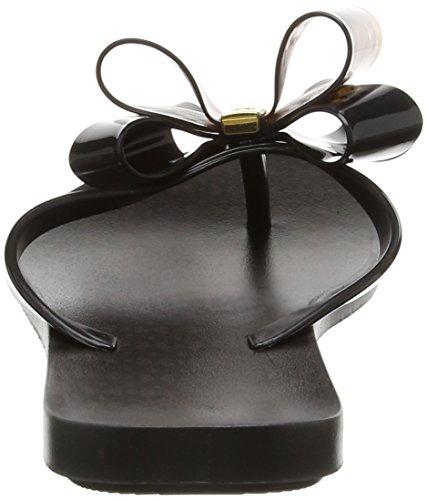 Zaxy Link Twin Bow Flipflop, Sandales Plateforme femme Black (black/tortoiseshell)