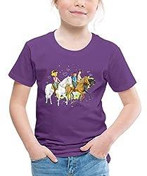 Bibi Und Tina Ausritt Mit Alexander Falkenstein Kinder Premium T-Shirt, 110/116 (4 Jahre), Lila