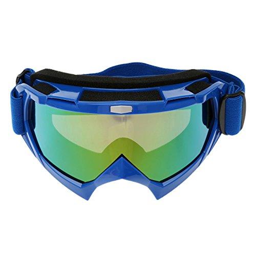 Motorrad Motorcross Brillen Schutzbrillen für Outdoor Skifahren Snowboard - Blau Rahmen (Blaue Snowboard-brillen)