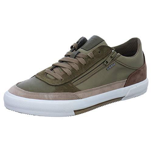 45 Grün (Geox Herren U KAVEN C Sneaker, Grün (Military/Sand C0152), 45 EU)