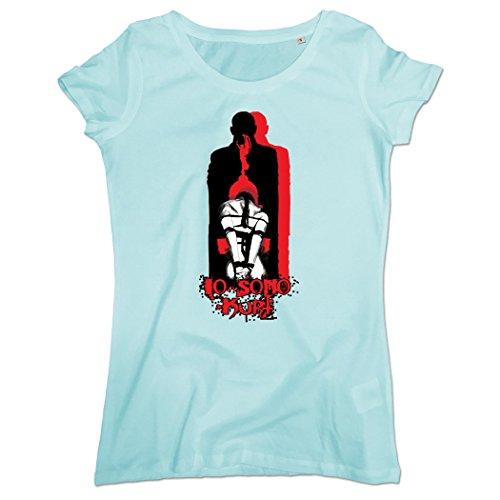 Pushertees-Store - T-Shirt Mujer Caribbean Blue - Uomo io Sono Kurt - Book - Fiction, Thriller, Mistero, Suspense, Giallo - Libro - Ficción, Suspense, Misterio, Suspenso, Giallo