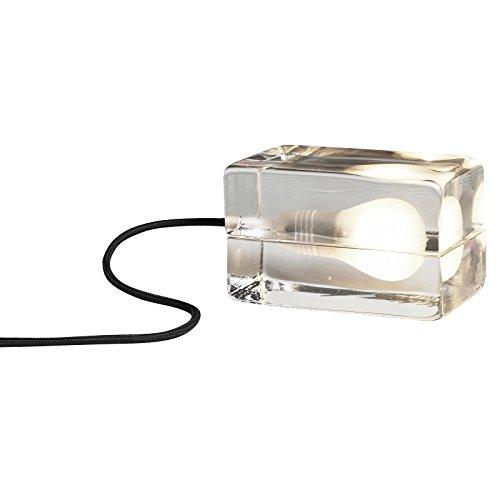 DesignHouseStockholm Block Lamp LED - Lampe de table, transparent câble noir