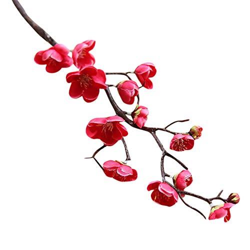 SuperSU Kunstblumen ►▷ 1PC Kunstblumen Pflaumenblüte Kunstblumen Blumen für Garten, Haus, Hochzeit, Außen- und Innendekoration Gefälschte Blumen Blumenschmuck (Baby Topf Von Gold Kostüm)