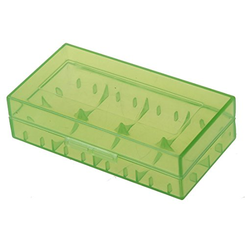 TOOGOO(R) Sostenedor / organizador caja de almacenamiento de bateria para 18650 or CR123A bateria Verde
