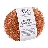 Redecker Kupfer - Topfreiniger 2er Pack mit Gebrauchsanleitung Ø 7,5 cm