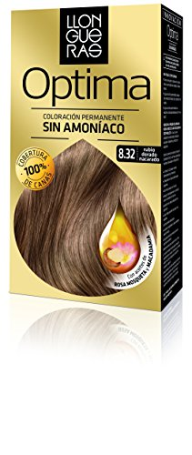 Llongueras Tintura per Capelli, Optima Hair Colour, 200 gr, 8.32-Light Blond Natural