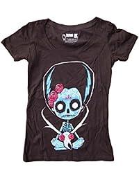 Akumu de tinta Antilocapra americana Catrina cuello redondo T-Shirt de la mujer
