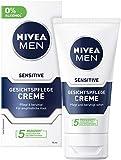 NIVEA MEN Sensitive Gesichtspflege Creme im 2er Pack (2 x 75 ml),...