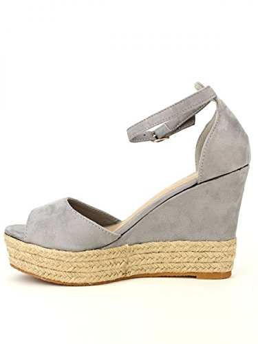 Cendriyon, Compensée Gris LOV'IT PARIS Chaussures Femme Gris