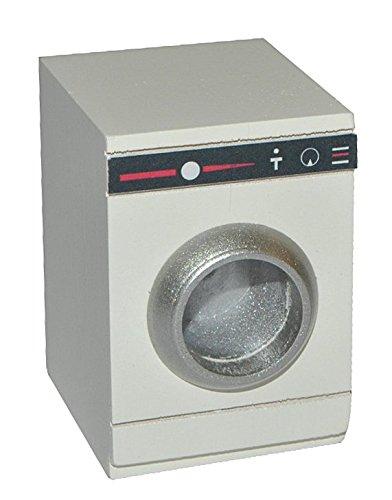 Preisvergleich Produktbild Miniatur Waschmaschine - Bad Maßstab 1:12 - Holz - für Badezimmer Zubehör Nostalgie Puppenstube Mini Frontlader