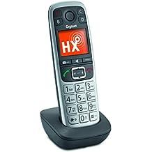 Gigaset E560HX Analog/DECT Identificador de llamadas Negro - Teléfono (Analog/DECT telephone, Terminal inalámbrico, Escritorio/pared, Negro, 150 entradas, Alarma)