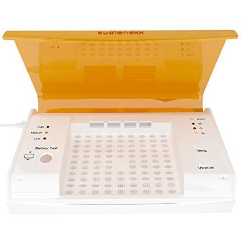 Audionexx Hörgeräte Trockenbox Mit UV Licht - Elektrischer Trockner, Reiniger & Desinfektion Für Hörgeräte