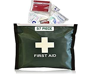 57 Piece FIRST AID KIT - Home, Travel, Vehicle - CE Marked